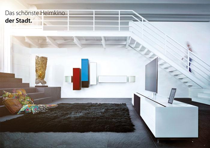 Audio-Möbel von Spectral hier in der Wohnfabrik bei Dresden.