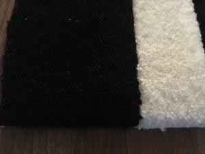 moderner teppich in schwarz wei tolles grafisches muster gr e 240x170 cm m bel fr hlich. Black Bedroom Furniture Sets. Home Design Ideas