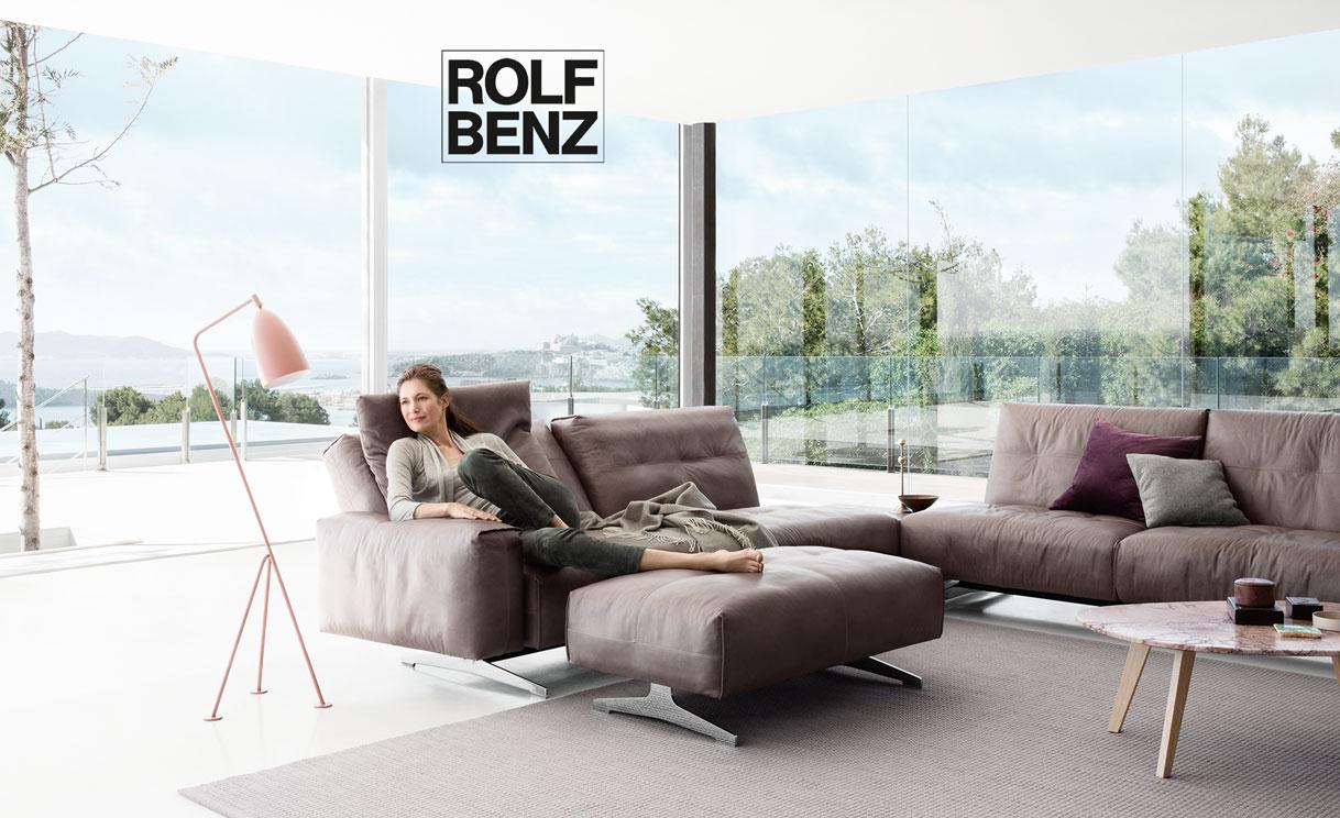 Rolf Benz 50 ist als Einzel-, Anreih- und Eck-Sofa